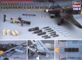 Hasegawa Luftwaffe Pilot Figures & Equipment Set WWII Plastic Model Military Kit 1/48 Scale #36009
