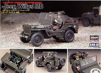Hasegawa 1/48 US Army Willys MB Jeep
