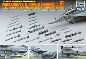Hasegawa US Aircraft Weapons E Plastic Model Aircraft Weapons Kit 1/48 Scale #36117