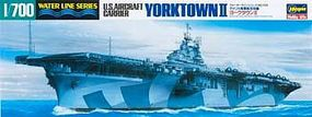 Hasegawa U.S.S. Yorktown II Plastic Model Aircraft Carrier Kit 1/700 Scale #49709