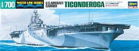 Hasegawa U.S.S. Ticonderoga Plastic Model Aircraft Carrier Kit 1/700 Scale #49710