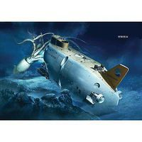 Hasegawa Manned Research Sub Shinkai 6500 w/Creatures Plastic Model Military Ship Kit 1/72 #52129