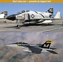Hasegawa F-4J Phantom II & F/A-18F Jolly Rogers 2 Kits Plastic Model Airplane Kit 1/72 Scale #52147