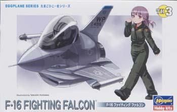Hasegawa Egg Plane F-16 Fighting Falcon -- Plastic Model Airplane Kit -- #60103