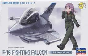 Hasegawa Egg Plane F-16 Fighting Falcon Plastic Model Airplane Kit #60103