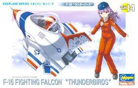 Hasegawa Egg Plane F-16 Fighting Falcon Thunderbirds Plastic Model Airplane Kit #60124