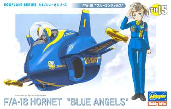 Hasegawa Egg Plane F/A-18 Hornet Blue Angels -- Plastic Model Airplane Kit -- #60125