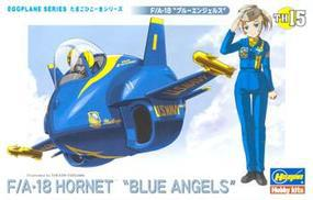 Hasegawa Egg Plane F/A-18 Hornet Blue Angels Plastic Model Airplane Kit #60125