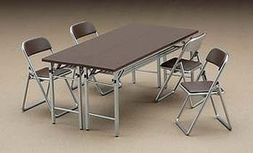 Hasegawa Meeting Desk & Chairs Plastic Model Diorama 1/12 Scale #62002