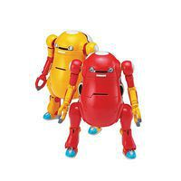 Hasegawa MechatroWeGo No.01 Aka & Kiiro Red/Yel 2 Kit Science Fiction Plastic Model 1/35 #64509