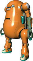 Hasegawa MechatroWeGo No.2 Orange Science Fiction Plastic Model 1/20 Scale #64513
