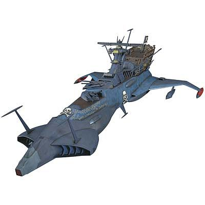Hasegawa Captain Herlock Space Pirate Ship Limited Science Fiction Plastic Model 1/1500 #64712