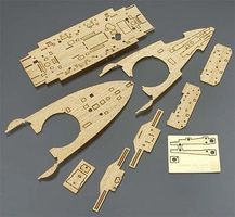 Hasegawa BATTLESHIP MIKASA WOODEN DECK Plastic Model Ship Accessory 1/350 Scale #72148