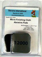 HObby-Stix 2''x2'' Micro Finishing Cloth Abrasive Pads (6 diff grits/Blister Cd)