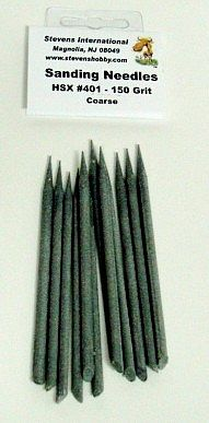 HObby-Stix 150 Grit Coarse Sanding Needles (12/Bag)
