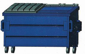 Hi-Tech HO Blue Trash Dumpster Kit