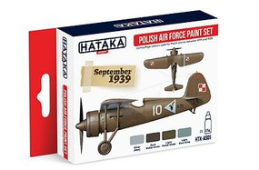 Hataka Red Line (Airbrush-Dedicated)- Polish AF 1919-39 Camouflage Paint Set (4 Colors) 17ml Bottles