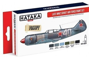 Hataka Red Line (Airbrush-Dedicated)- Late WWII Soviet AF Paint Set (6 Colors) 17ml Bottles