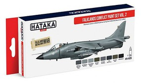 Hataka Red Line (Airbrush-Dedicated)- Falklands Malvinas Conflict British AF Vol.2 Paint Set (8 Colors) 17ml Bottles