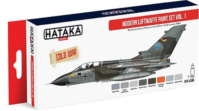 Hataka Red Line (Airbrush-Dedicated)- Modern Luftwaffe 1960s-Early 1980s Vol.1 Paint Set (8 Colors) 17ml Bottles
