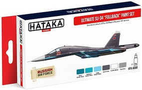 Hataka Red Line (Airbrush-Dedicated)- Ultimate Su34 Fleet Fullback Russian AF Paint Set (6 Colors) 17ml Bottles