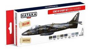 Hataka Red Line (Airbrush-Dedicated)- USMC AV8 Early Schemes 1970s-90s Paint Set (8 Colors) 17ml Bottles