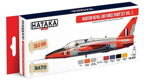 Hataka Red Line (Airbrush-Dedicated)- Modern RAF Since 1950s Vol.3 Paint Set (8 Colors) 17ml Bottles