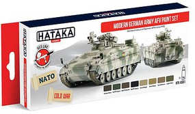 Hataka Red Line (Airbrush-Dedicated)- Modern German Army AFV Since 1955 Paint Set (8 Colors) 17ml Bottles