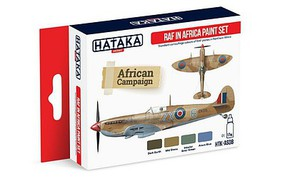 Hataka Red Line (Airbrush-Dedicated)- RAF in Africa Camouflage Paint Set (4 Colors) 17ml Bottles