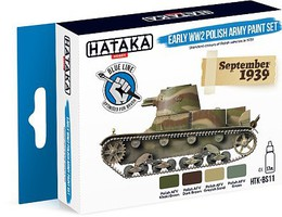 Hataka Blue Line (Brush-Dedicated)- Early WWII Polish Army 1939 Paint Set (4 Colors) 17ml Bottles