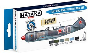 Hataka Blue Line (Brush-Dedicated)- Late WWII Soviet AF Paint Set (6 Colors) 17ml Bottles