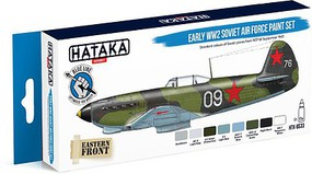Hataka Blue Line (Brush-Dedicated)- Early WWII Soviet AF 1937-43 Paint Set (8 Colors) 17ml Bottles