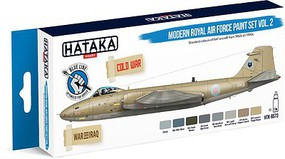 Hataka Blue Line (Brush-Dedicated)- Modern RAF 1950s-90s Vol.2 Paint Set (8 Colors) 17ml Bottles