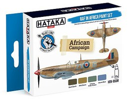 Hataka Blue Line (Brush-Dedicated)- RAF in Africa Camouflage Paint Set (4 Colors) 17ml Bottles