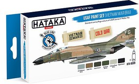 Hataka Blue Line (Brush-Dedicated)- USAF Vietnam War Era 1960s-70s Camouflage Paint Set (6 Colors) 17ml Bottles
