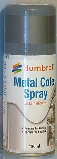 Humbrol 150ml Acrylic Metalcote Polished Steel Spray