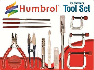 Humbrol Modellers Medium Tool Set (14 different)