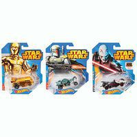 Hot-Wheels 1/64 Hot Wheels Star Wars Character Car Asst (12)
