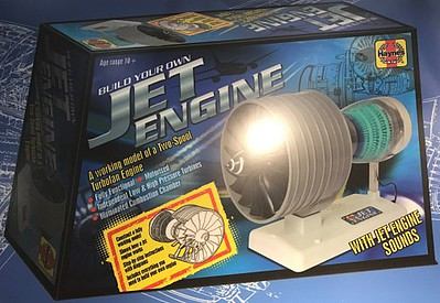 Haynes Visible Working Two-Spool Turbofan Jet Engine w/Electric Motor & Sound