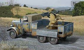 IBG Einheits Diesel German Truck w/3,7cm Breda Gun Plastic Model Military Truck Kit 1/35 #35005