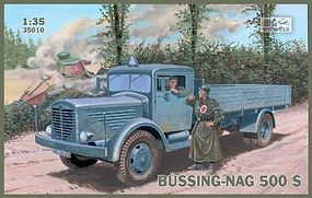 IBG Bussing-Nag 500S Stake Body Truck Plastic Model Military Truck Kit 1/35 Scale #35010