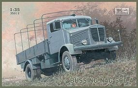 IBG Bussing-Nag 500A Canvas-Type Stake Body Truck Plastic Model Military Truck Kit 1/35 #35011
