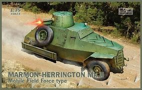 IBG Marmon-Herrington Mk II Mobile Field Force Type Plastic Model Military Vehicle 1/35 #35023