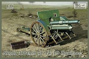 IBG Skoda 100mm vz 14/19 Howitzer Gun Plastic Model Military Weapon Kit 1/35 Scale #35025