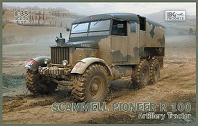 IBG Scammell Pioneer R100 Artillery Tractor Plastic Model Military Vehicle Kit 1/35 #35030