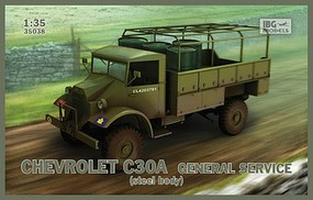 IBG Chevrolet C30A Gen Service Steel-Type Body Plastic Model Military Vehicle Kit 1/35 #35038