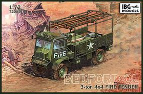IBG Bedford QLR 3 Ton 4x4 Fire Tender Plastic Model Military Vehicle Kit 1/72 Scale #72005