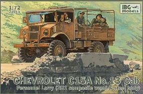 IBG Chevrolet C15A Cab 13 Personnel Lorry Plastic Model Military Truck Kit 1/72 Scale #72013
