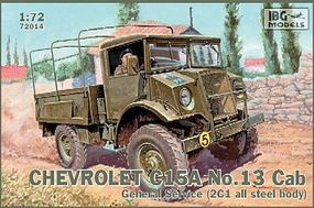 IBG Chevrolet C15A Cab 13 General Service Truck Plastic Model Military Truck Kit 1/72 #72014