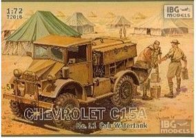 IBG Chevrolet C15A Cab 11 Water Truck Plastic Model Military Vehicle Kit 1/72 Scale #72016